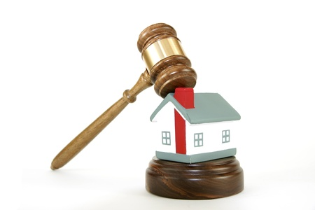 Gavel with house Stock Photo - 13138651