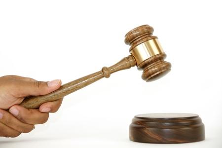 judges: Gavel on white background