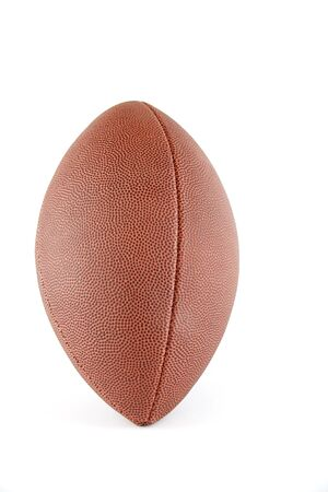 superbowl: Football on a field Stock Photo