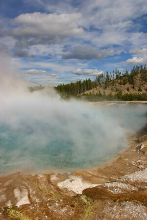 Yellowstone Geyser Thermal Feature Stock Photo - 13139057