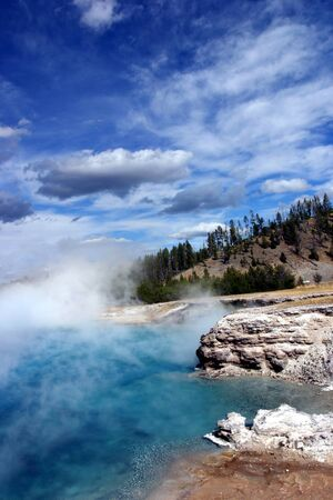 Yellowstone Geyser Thermal Feature Stock Photo - 13139414
