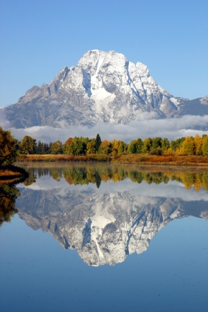 snow capped mountain: Grand Tetons National Park Mountains