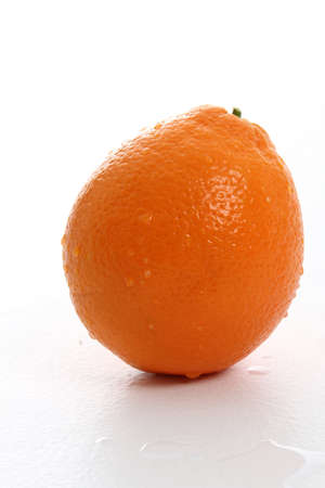 A wet orange on a white background