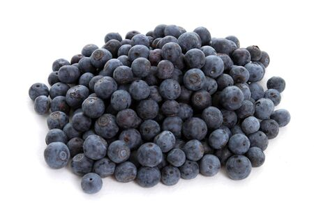 Pile of Blueberries on a white background