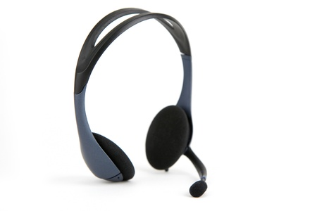 customer service representative: Headset of a customer service representative