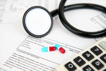 의료 보험 서류 스톡 콘텐츠