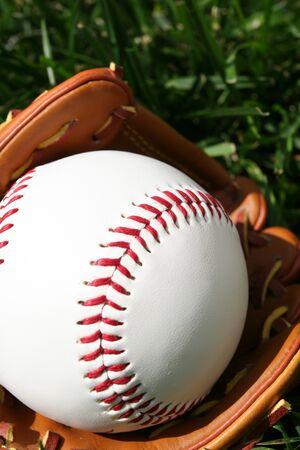 A baseball glove with a baseball Stock Photo - 13139863