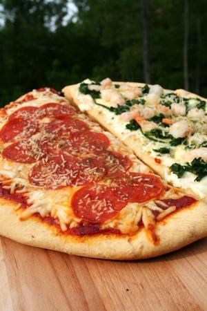 carnes y verduras: Pizza lista para comer