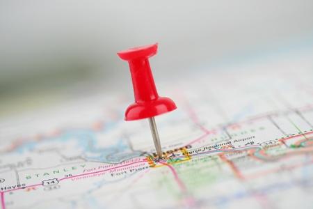 Druk de pen vast te zitten in een kaart