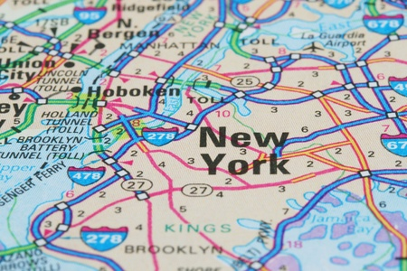 interstate: Map of New York