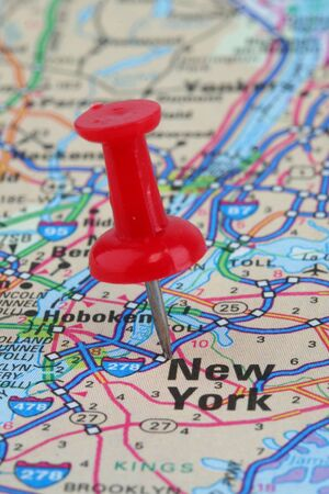 map pin: Map of New York