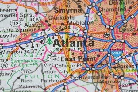georgia: Map of Atlanta