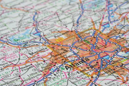 Kaart van Atlanta
