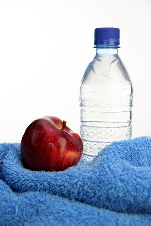 Water and an apple Banco de Imagens - 13139469