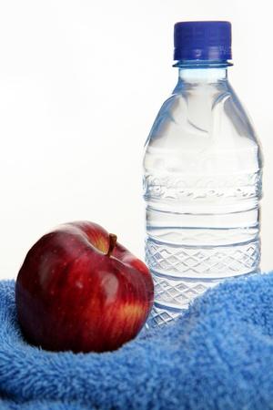 Water and an apple Banco de Imagens - 13139430