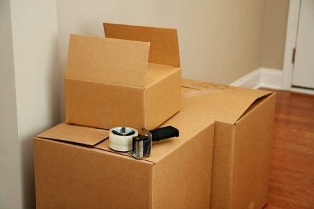 moving boxes Stock Photo - 13141648