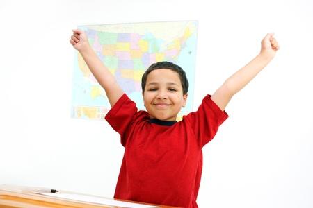 Student in een klaslokaal op een basisschool