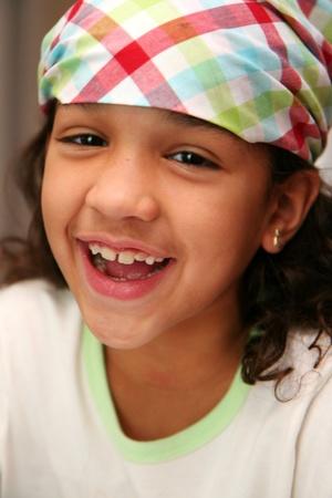 bandana girl: Girl with a bandana on