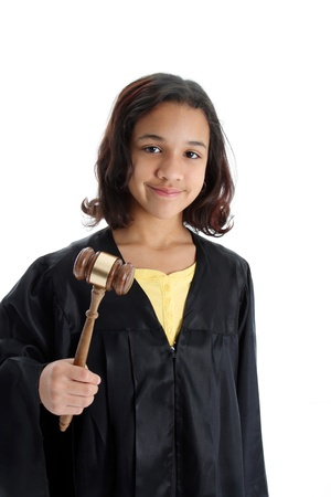 court judge: Picture of a child set on white background