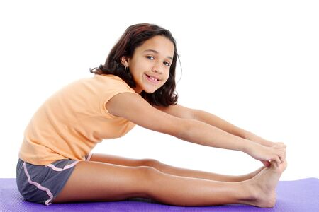 physical education: Picture of a child set on white background