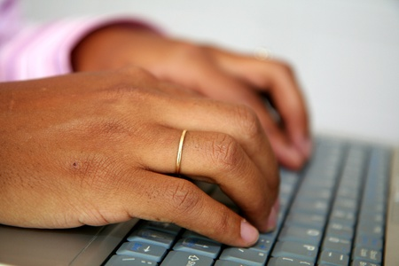 Woman on the computer Stock Photo - 13225745
