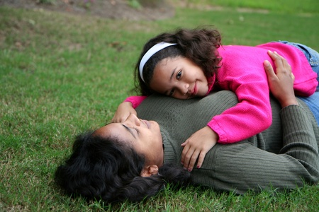 A mixed race mother and daughter Stock Photo - 13597895