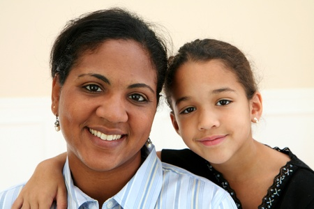 ethnic children: Woman with her daughter