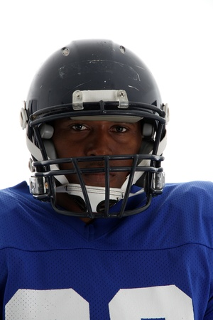 Football Player shot on a white background Stock Photo - 13293830