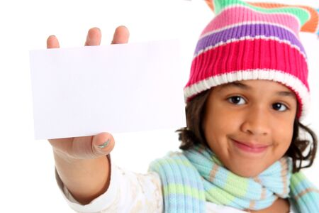 Young Girl Posing Against A White Background photo