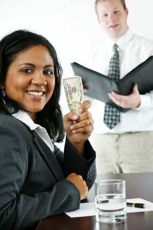 Businesswoman in her office Stock Photo - 13297363