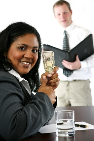 Businesswoman in her office Stock Photo - 13296787