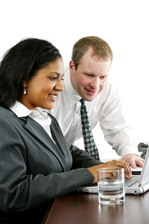 Businesswoman in her office Stock Photo - 13294171