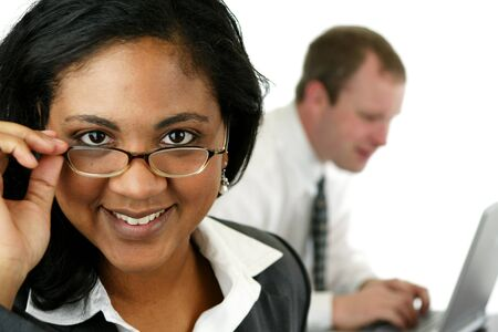 Businesswoman in her office Stock Photo - 13297824