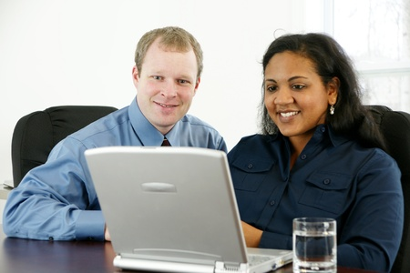 Businesswoman in her office Stock Photo - 13298258