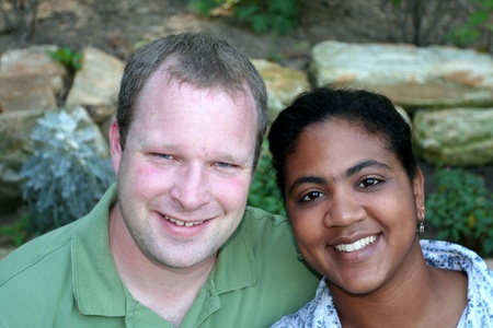 interracial marriage: Happy Married Couple