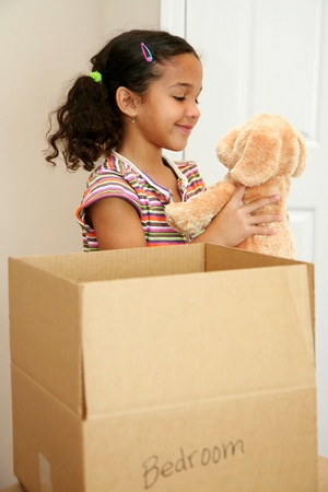 Family moving into a new home Stock Photo - 13302537