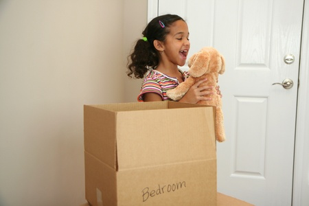 toy box: Family moving into a new home