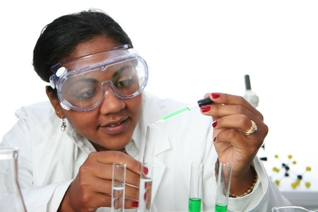 Worker in a lab photo