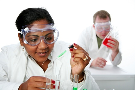 labratory: Worker in a lab Stock Photo