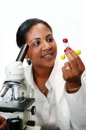 Worker in a lab Zdjęcie Seryjne