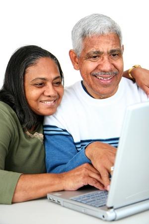 Minority couple set against a white background Stock Photo - 13298845