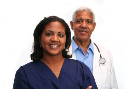 Minority doctor set on white background Stock Photo - 13293328