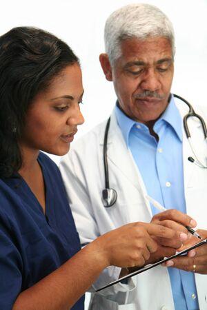 Minority doctor set on white background Stock Photo - 13301895