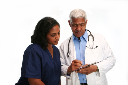 Minority doctor set on white background Stock Photo - 13293341