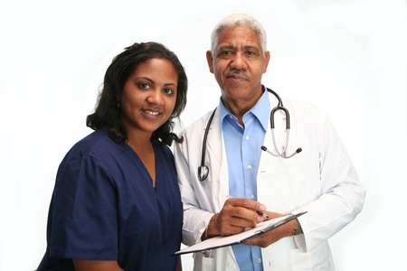 Minority doctor set on white background Stock Photo - 13302177