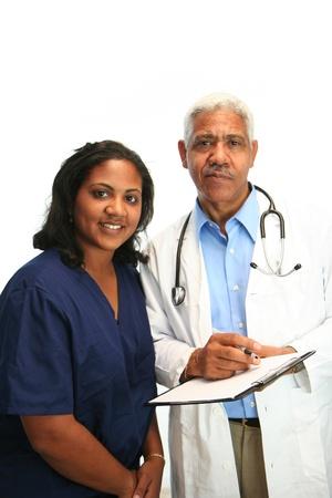 Minority doctor set on white background Stock Photo - 13302454