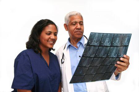 Minority doctor set on white background Stock Photo - 13302156