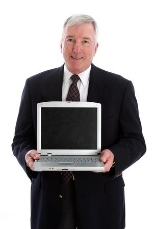 Senior Man Set Against A White Background Stock Photo - 13302021