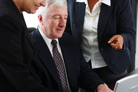 Business team working together in their office Stock Photo - 13293876