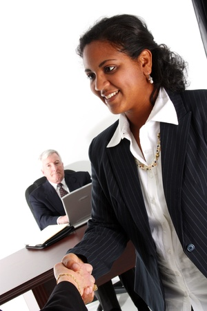 senior business: Business team working together in their office Stock Photo